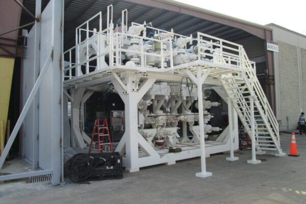 20K manifold skid, Large manifold skid, multi-story skid