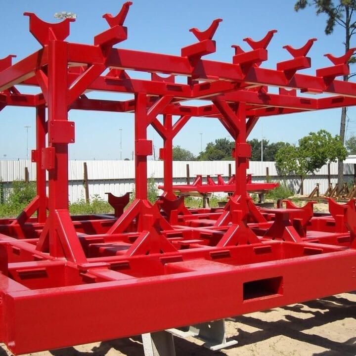 Manifold skid | Two-tier skid | Custom Skid Manufacturing